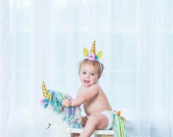 Unicorn Rocking Horse/Rocking Horse/Childrens Rocking Horse/1st Birthday Gift/Personalized Childrens Birthday Gift/Hairlom Rocking Horse