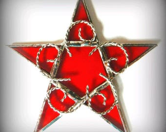 Stained Glass Star Sun Catcher