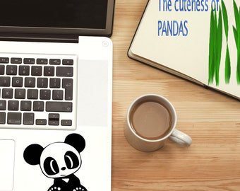 Panda Decal / Panda Window Decal / Panda Bear Computer Laptop Sticker Decal / Cute Panda Decal / Panda car Decal / Panda iPad decal