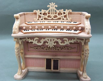 Miniature Wooden 1:12 Scale  Doll House Organ[Unfinished]