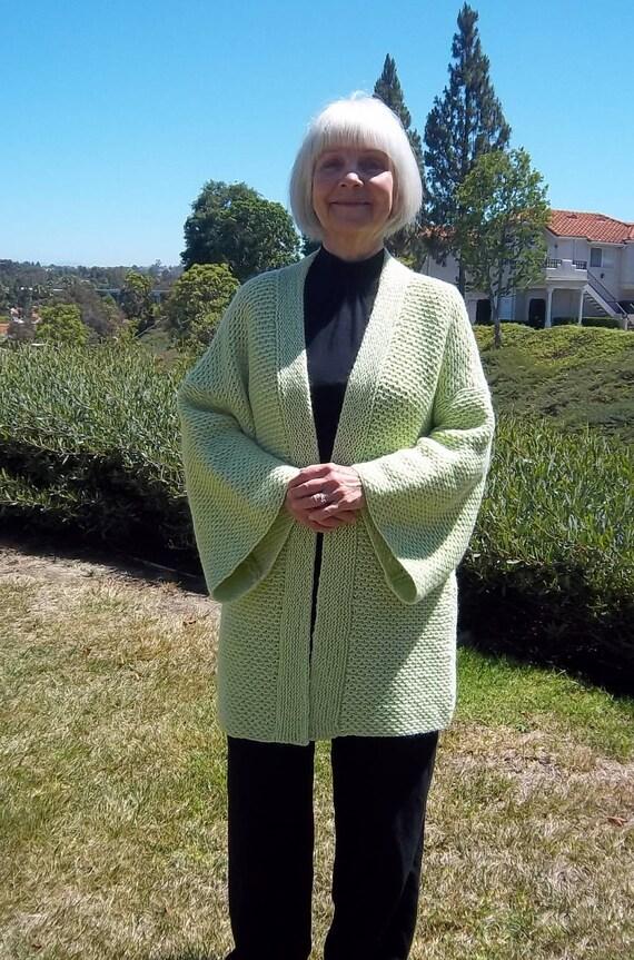 Pdf Download Knit Pattern For The Easy Ripple Stitch Kimono