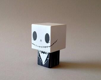 """Figurine cubique en bois décorative """"Jack"""""""