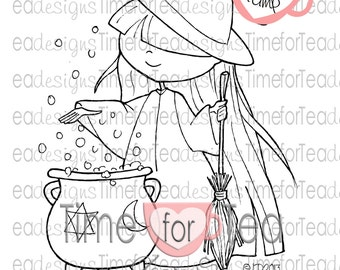Witchy Polly Digital Stamp