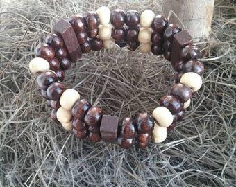 Wooden Bracelet, Wood bracelet, Wooden beads bracelet.