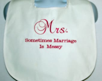 New Bride Gag Gift, Custom Mrs. Dress Protector, Marriage, Wedding Rehearsal Dinner, Bachelorette Party, Ready To Ship TODAY AGFT 979