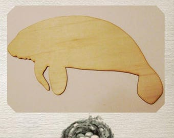 Manatee Wood Cut Out - Laser Cut
