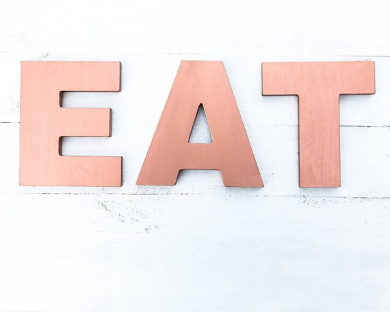 EAT Sign Eat Letters Kitchen Wall Decor Copper Eat Sign