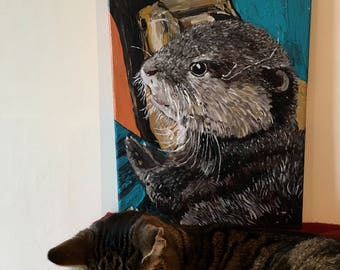Pip the Otter Original Painting