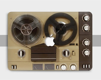 Retro Audio Tape Recorder Macbook 13 Inch, Macbook Air 13 Inch Case, Macbook Pro retina 15, case Macbook Pro 13 inch Case, Macbook 12 case