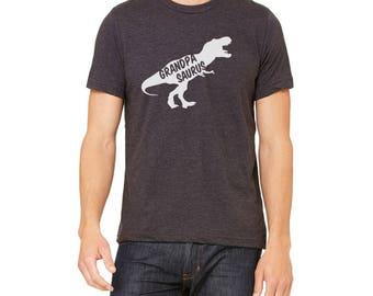 Grandpasaurus Shirt - Dinosaur T Shirt - Grandpasaurus Rex - Gift For Grandpa - Grandpa To Be Shirt - grandpa reveal shirt