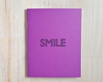 Medium Notebook: Smile, Purple, Fun, Bright, Kids, Blank Journal, Wedding, Favor, Journal, Blank, Unlined, Unique, Gift, Notebook, V292