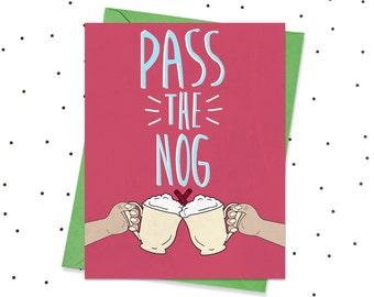 Funny Christmas Card, Christmas Card, Funny Holiday Card, Eggnog Card, Christmas Card Funny, Funny Eggnog Card, Funny Cards, Funny Christmas