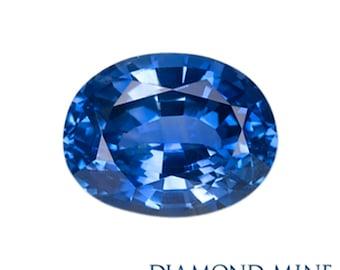 1.8 Carat Blue Sapphire, Oval cut Sapphire, Loose Sapphire Gemstone, Blue Gemstone, Non Heated Real Sapphire
