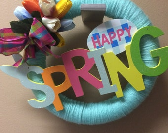 Spring theme wreath