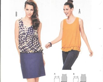 Misses Loose Bare Shoulder Tops or Dresses, Sizes 8 Thru 20, New Burda Pattern  6913