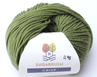 15%OFF Superwash Merino Wool in Crisp- Lichen Leaf Green DK Double Knit  Weight Yarn 95 yards 87 Meters 50gram Ball for knitting