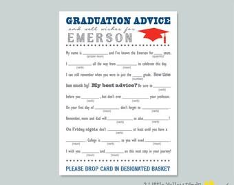 Graduation Advice Cards - Mad Libs