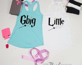 Big Little GBig GGBig Sorority tanks, sorority tank, Little Big, Greek shirt, Little sister, Big Sister, Big and Little shirts d70