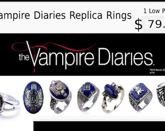 The Vampire Diaries Replica Ring Collection/FREE DOMESTIC SHIPPING!