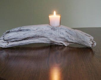Driftwood Candle Holder Votive Candle Holder Beach Decor Wedding Decor Wedding Centerpiece Coastal Decor Beach Wedding Nautical Decor
