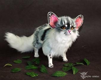 Fantasy Gray Fox, soft toy, stuffed animal, toys handmade