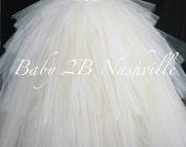 Bridal Skirt Ruffled Skir...