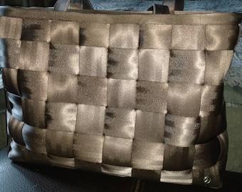 Vintage 90's Harvey's original seatbelt Mercedes Edition (Rare) purse. XLarge.