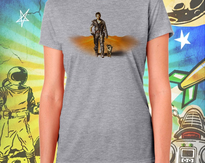 """The Road Warrior / Mad Max 2 / Mel Gibson's Mad Max and """"Dog"""" / Women's Gray Performance T-Shirt"""