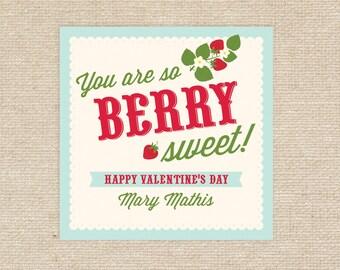 Printable Berry Valentine Tags