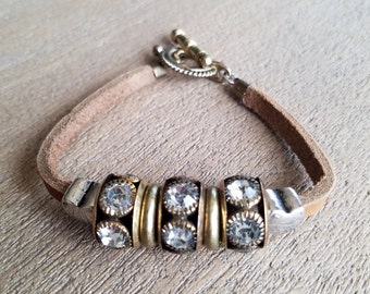 Rondele Leather Bracelet