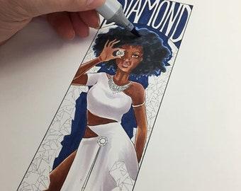 Digital Coloring page  Diamond