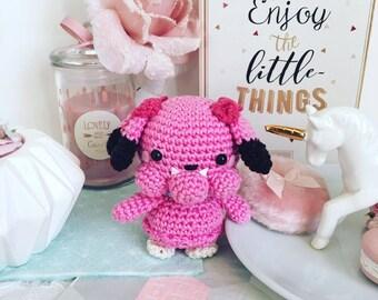 Snubbull Pokemon crochet amigurumi plush