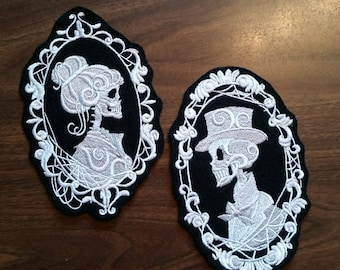Skeleton Cameo patch,