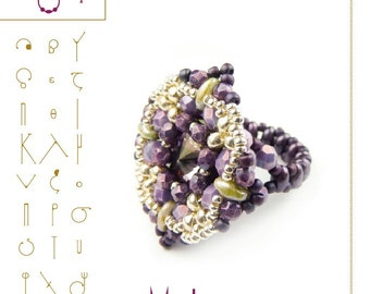 Bead tutorial Ring tutorial / pattern Mr. Lem ring-PDF instruction for personal use only