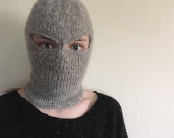 Hand Knit Mohair Balaclava | Ski Mask | Superhero Mask