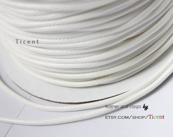 Sale 11 Yards Uncut 2mm White Wax Cords, Environmental Protection Wax Cords WS204