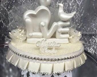 Doves cake topper | Etsy