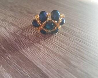 Blue fantasy ring