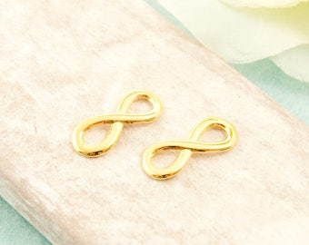 5x Infinity Eternity 15mm gold pl.  #3405