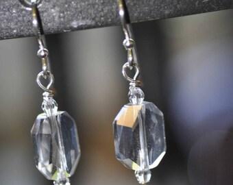 Simple Crystal Earrings