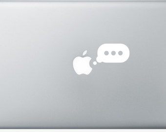 Sticker Macbook - Writing - Decal for MacBook Air Pro Retina - 11 12 13 15 or 17 inches - Skin for macbook easy to stick