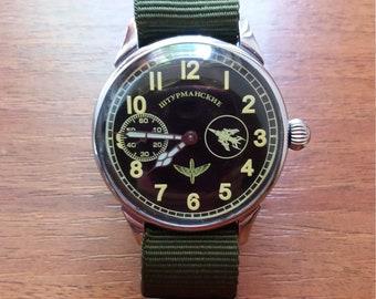 "Vintage watch,""Molniya- 3602""/ Shturmanskie"", watches for men, ussr watch, russian watch mens watch vintage, mechanical watch"