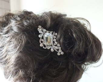 Sparkling Rhinestone Hair Comb Prom or Bridal Head Piece Wedding Veil Alternative