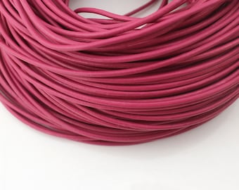 2mm Round Leather Cord, Genuine Leather Cord, Leather String, Hot Pink Leather Cord, Necklace Cord, Bracelet Cord, Jewelry Cord--PS109