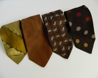 Set of 4 Wide Vintage Ties Peter Morelle of London Marquis by Forsyth Couture 72 Abbey Arthur Frederick