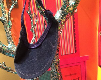 Vintage blue purse for barbie/fashion royalty dolls