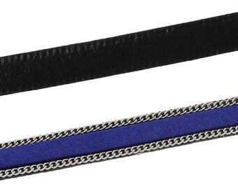 Approximately 1 m 10mm blue Sapphire - SC57889 - velvet cord