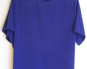 Jack Mulqueen Royal Blue Blouse With Back Button Clousure