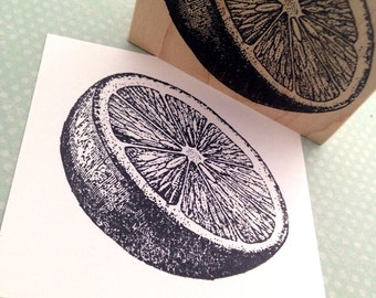 Sliced Citrus Fruit Orange, Grapefruit, Lemon Rubber Stamp 5940