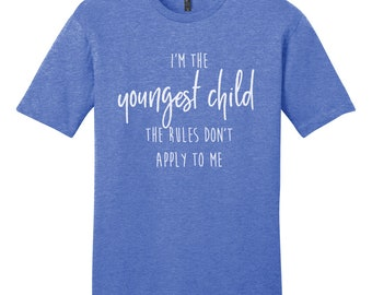 Sibling Birth Order Shirt Set, Men's/Unisex T-Shirt | Funny Sibling Shirts | Youngest Child | Middle Child | Oldest Child shirt